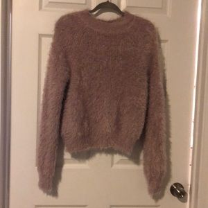 Women's pink chenille sweater